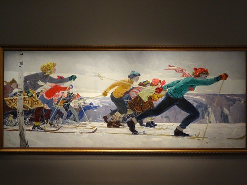 The skiers, Anatoly Talalayev. (1961).