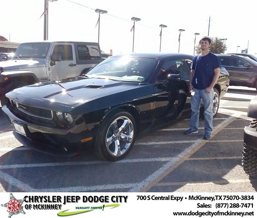 Congratulations to Corbin Kitchens on your #Dodge #Challenger purchase from Carlos Sisk at Dodge City of McKinney! #NewCar by Dodge City McKinney Texas