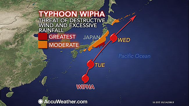 Typhoon WIPHA track map