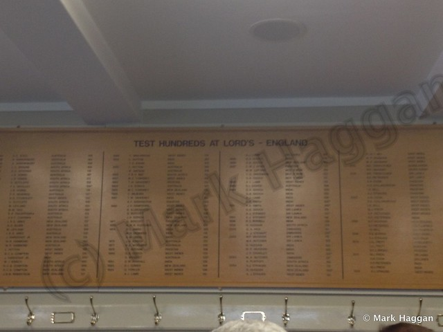 In the Home Dressing Room at Lord's