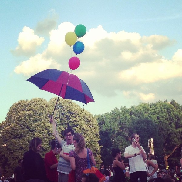 party in central park by anitam_com