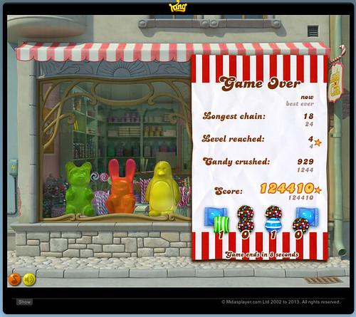 100K wins in Candy Crush Tournament