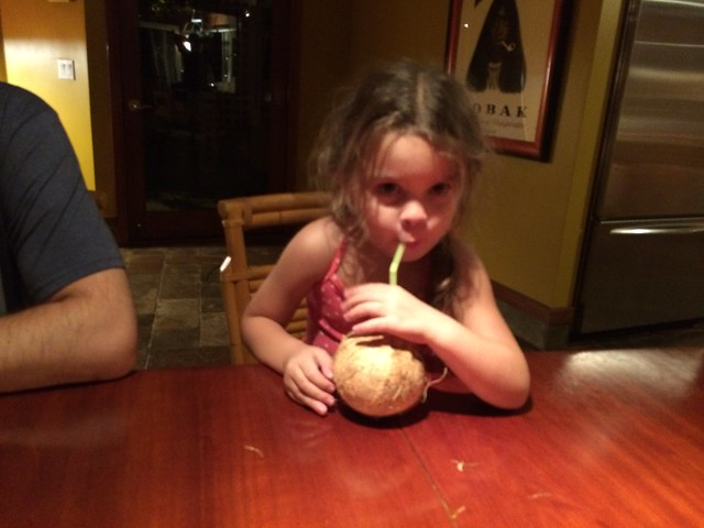 trying coconut water