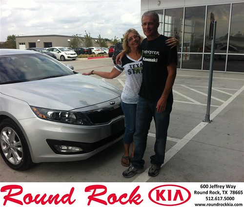 Thank you to Bege Lehmann on your new 2013 #  #  from Amir Mahboubi and everyone at Round Rock Kia! #LoveMyNewCar by RoundRockKia