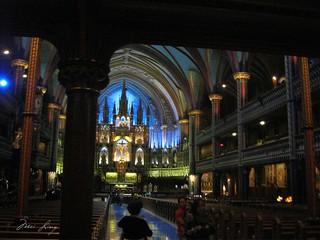 view when you enter the basilica