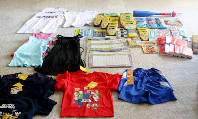 Some of the donations Heather brought.