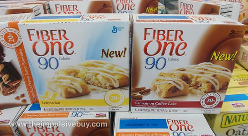 Fiber One 90 Calorie Lemon Bar Cinnamon Coffee Cake