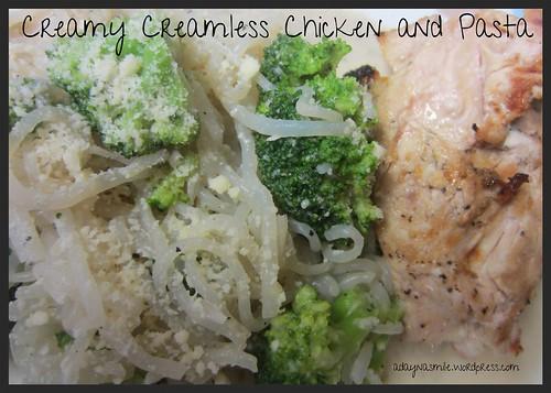 Creamy Creamless Chicken and Pasta