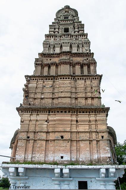 The side of gopuram kodanda rama temple ammapalle shamshabad