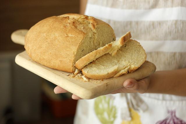 Vegan Rosemary Bread | #veggieangie