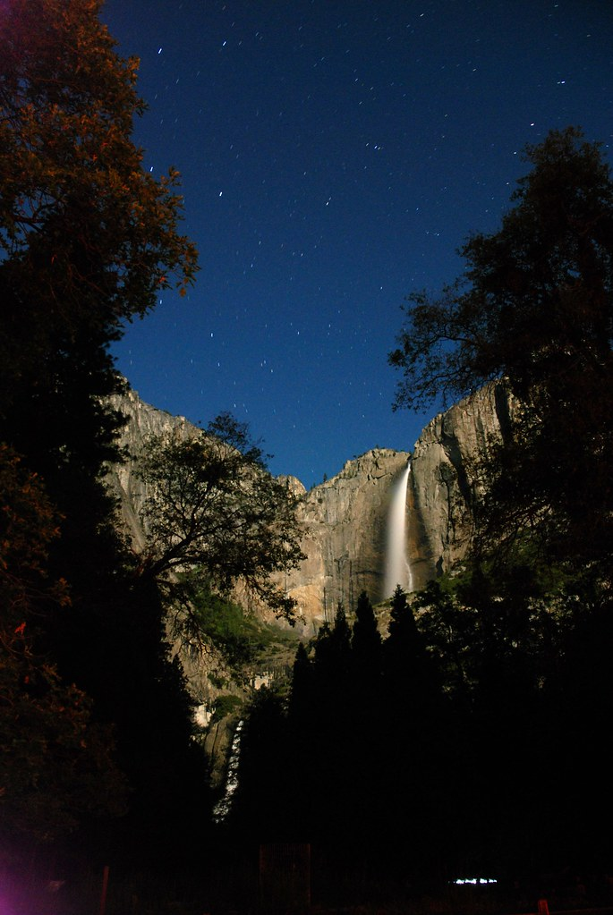Yosemite Falls in the night