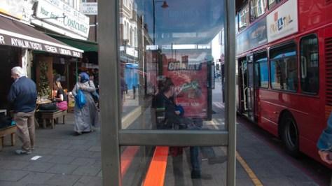 Bus stop Stoke Newington High Street