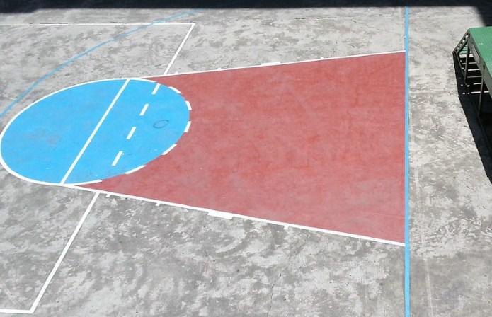geometric basketball court