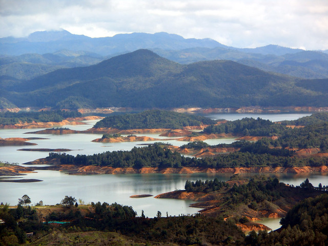 La Piedra view in Guatape, Colombia.