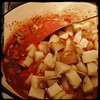 Don't think I'd forget #Potatoes (parboiled) for the #BeefStew Step 9