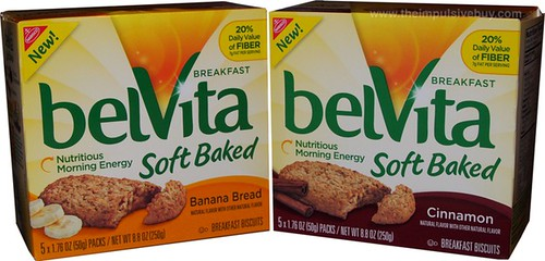 Nabisco belVita Soft Baked Breakfast Biscuits (Banana Bread and Cinnamon)