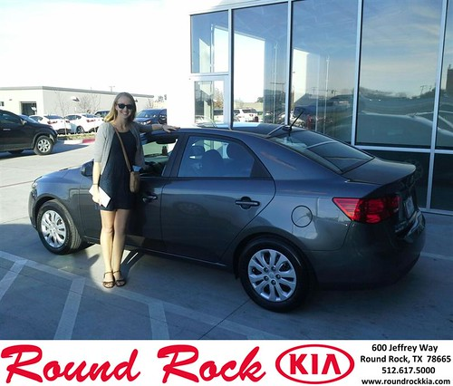 Thank you to Elli Schmidt on your new 2013 #Kia #Forte from Eric Armendariz and everyone at Round Rock Kia! by RoundRockKia