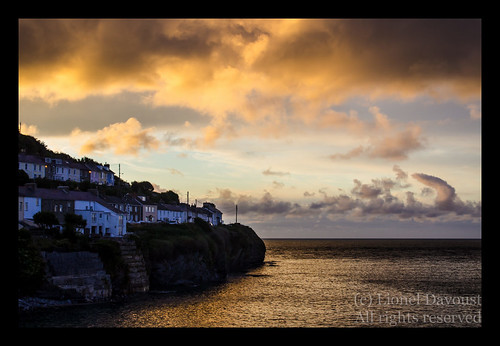 Angry sunset over New Quay