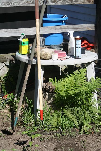 my garden work table