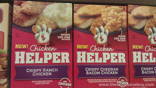 Chicken Helper Crispy Ranch Chicken and Crispy Cheddar Bacon Chicken