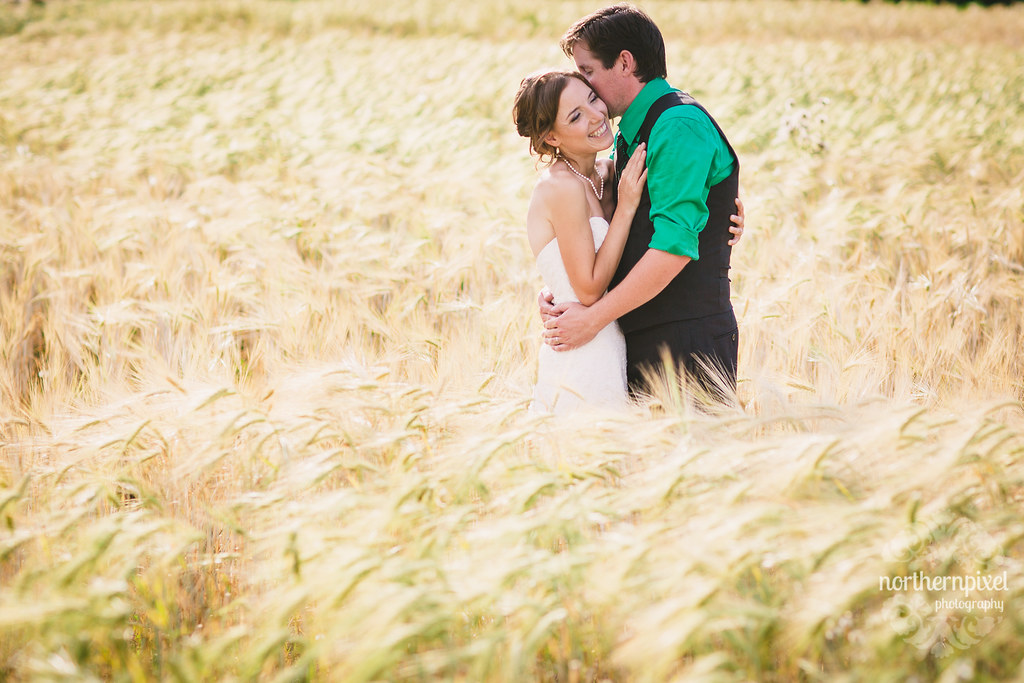 Newlywed Photos in the Barley Elopement Wedding