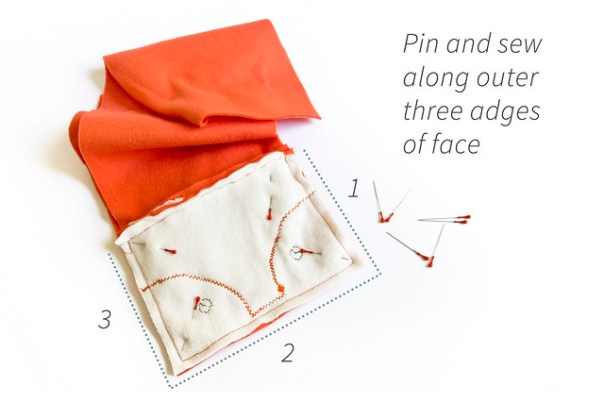 Create the face flap for the kindle case