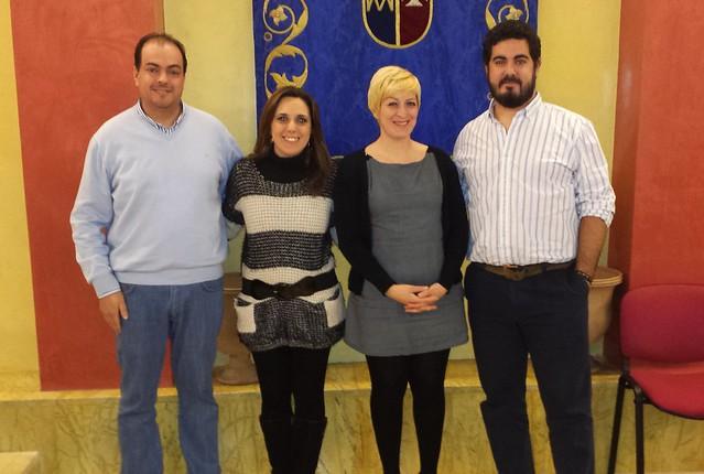 Las cuatro concejalas del Grupo Municipal de IU El Viso