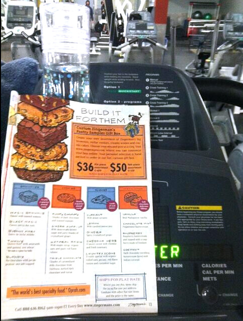 Food catalog at the gym