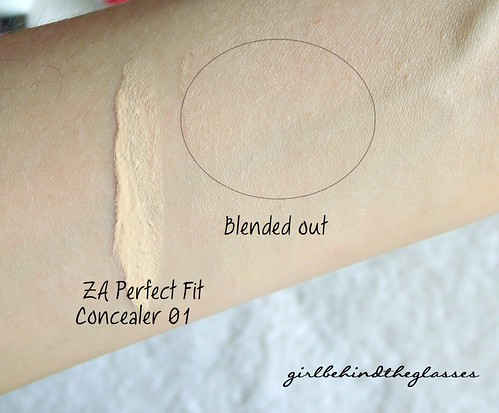 ZA Perfect Fit Concealer swatch