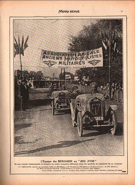 Lenfant beim Bol D´Or 1922
