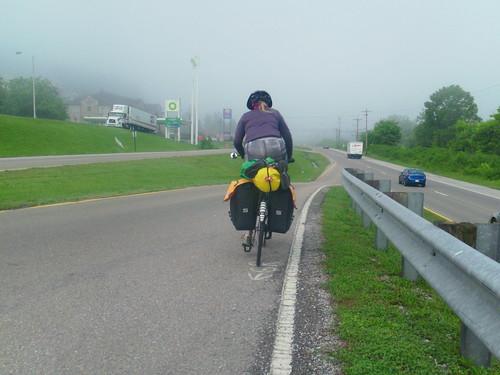 foggy ride in Harriman TN