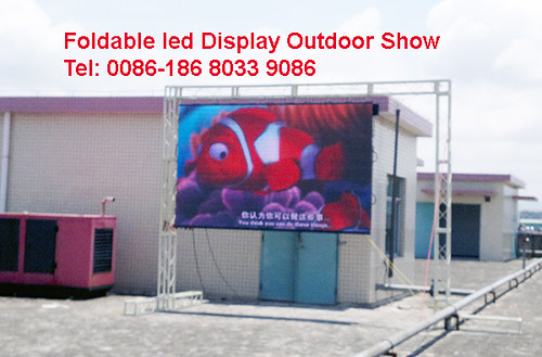 foldable led screen outdoor p10 by soft flexible LED vision curtain display