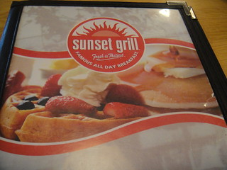 Sunset Grill menu page