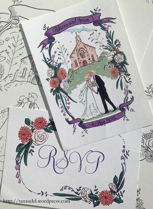 Rebecca & Aaron - invitation