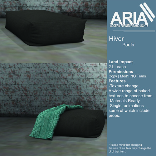 Hiver poufs at TMD