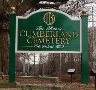 Sign outside of Cumberland Cemetery