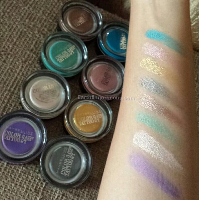 Maybelline Color Tattoo 24 hrs eyeshadow review