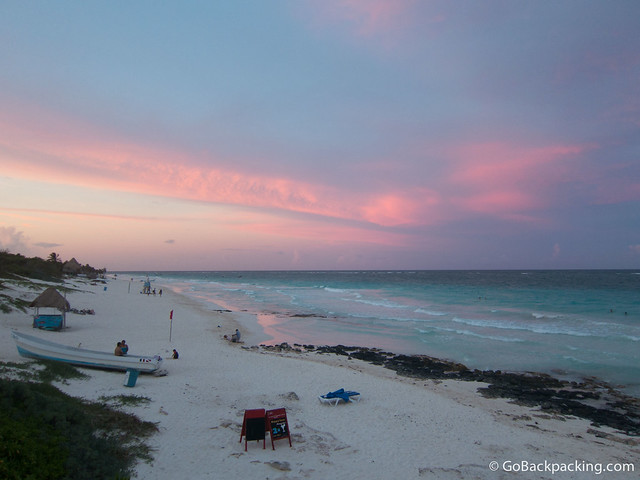 Sunset in Tulum