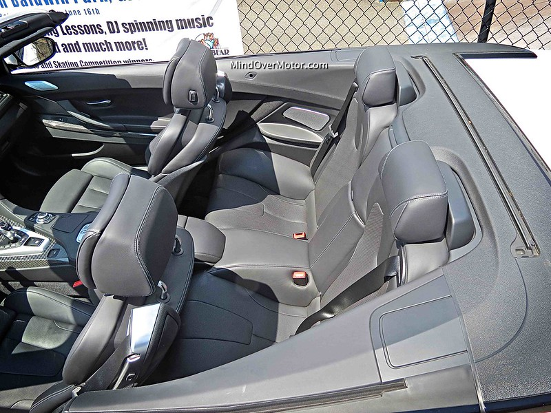 2014 BMW M6 Convertible back seat