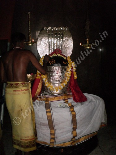 Mr. Paramanathan performing the puja