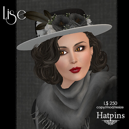 Hatpins - Lise Hat