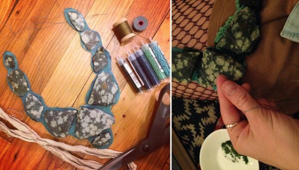 DIY Virgin Islands Rock Necklace