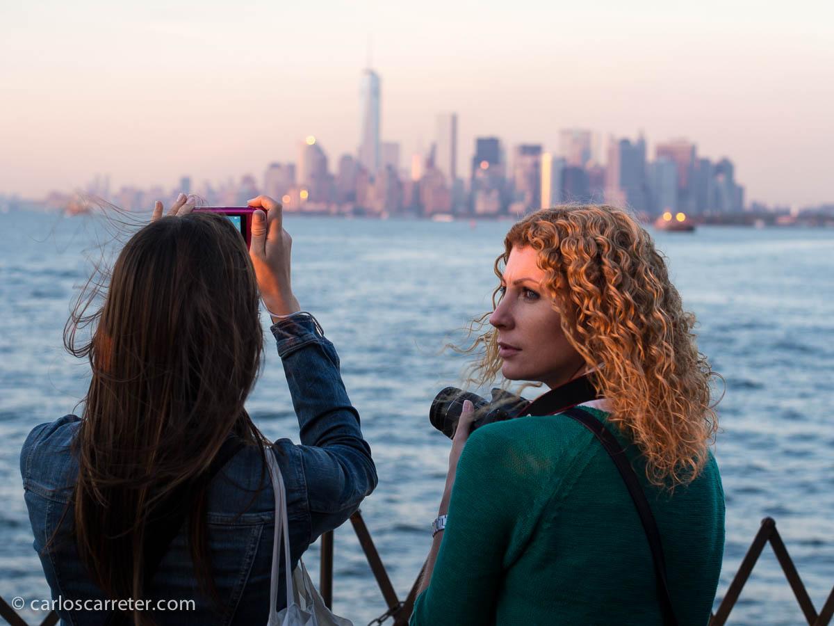 Ocaso en el ferry de Staten Island