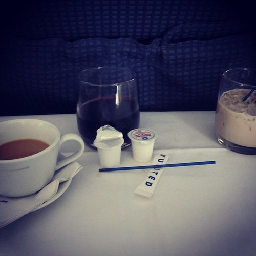 Coffee, Wine & Baileys #airlinefood #foodporn by @MySoDotCom