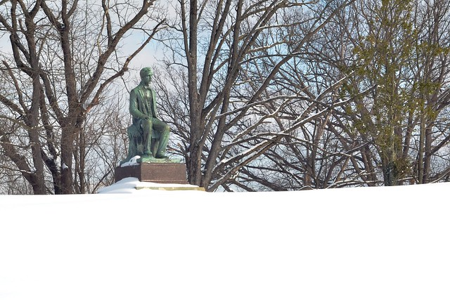 Stephen Foster, in the Snow