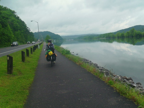 oak ridge bike path along water