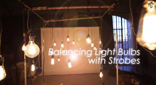 Blancear luz de tungsteno (de focos) con los flashes