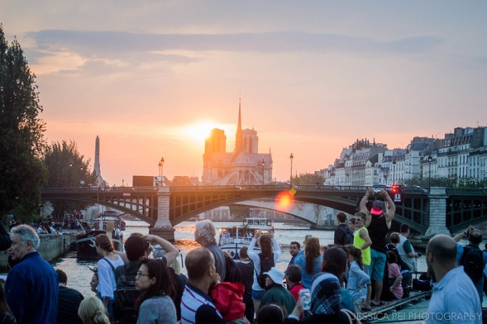 Seine River Sunset Paris