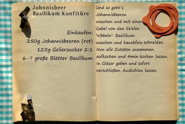 Einkaufszettel Johannisbeer Basilikum Marmelade by Glasgeflüster 1 groß