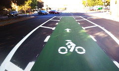 Green bike lane Hedding Street San Jose